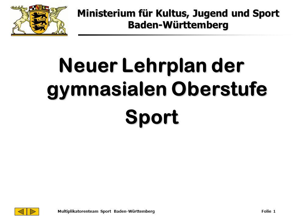 Neuer Lehrplan der gymnasialen Oberstufe Sport