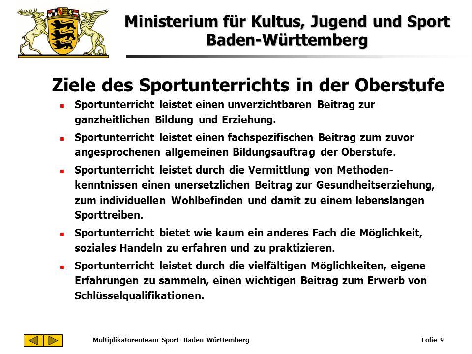 Multiplikatorenteam Sport Baden-Württemberg