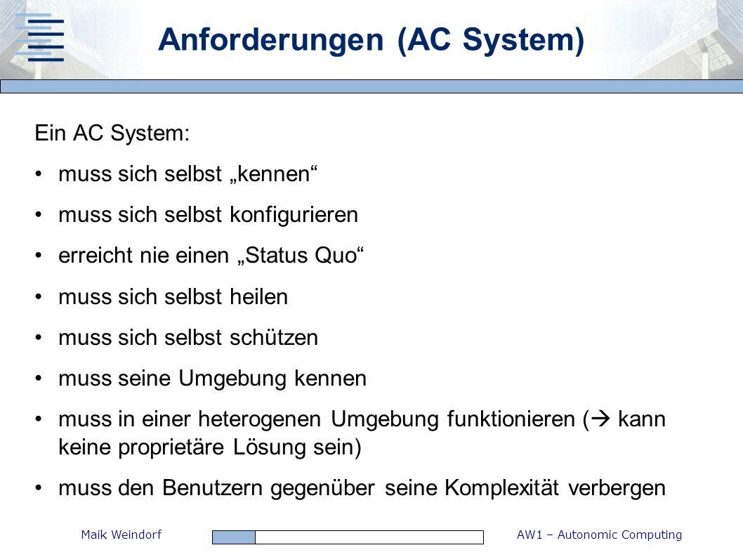Anforderungen (AC System)