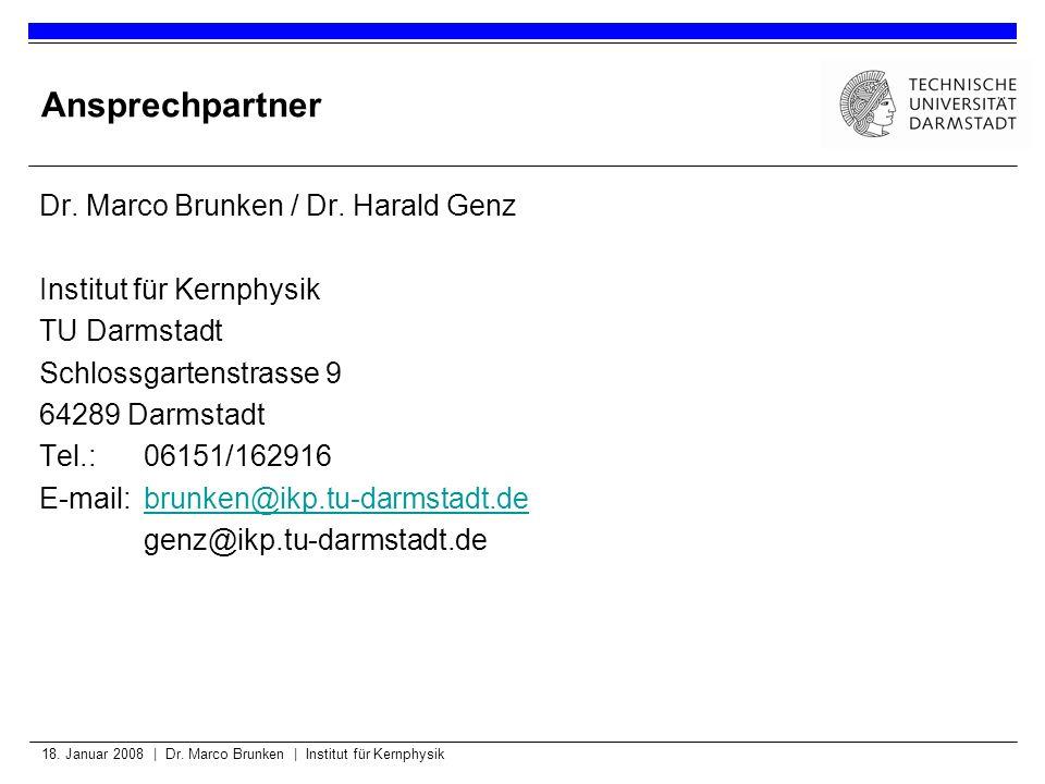 Ansprechpartner Dr. Marco Brunken / Dr. Harald Genz