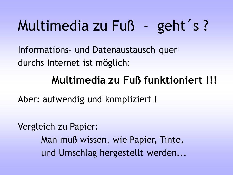 Multimedia zu Fuß - geht´s