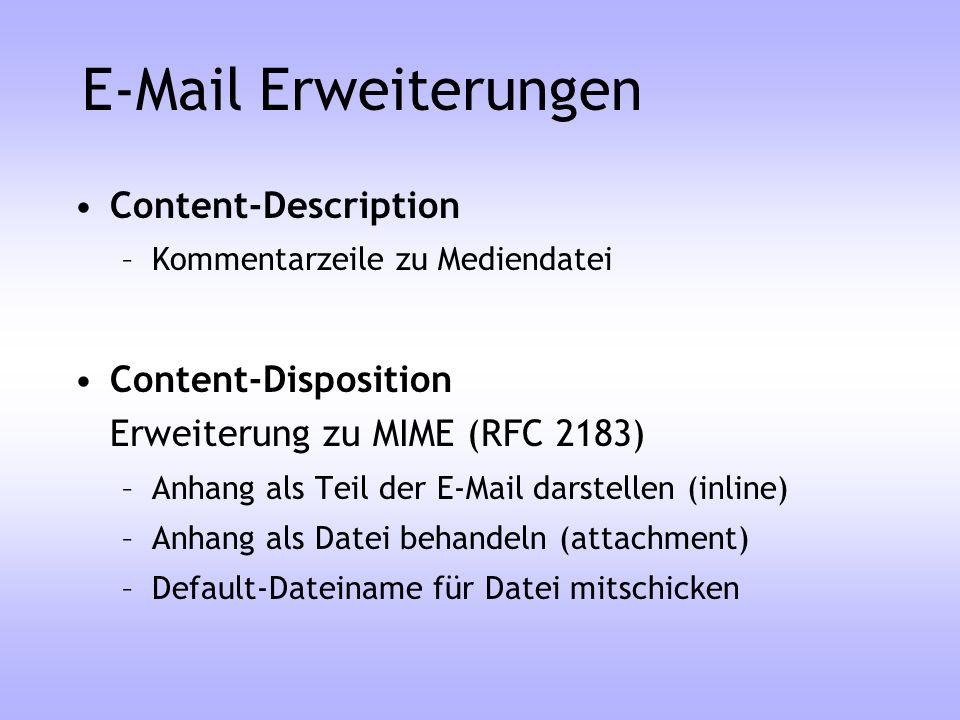 E-Mail Erweiterungen Content-Description
