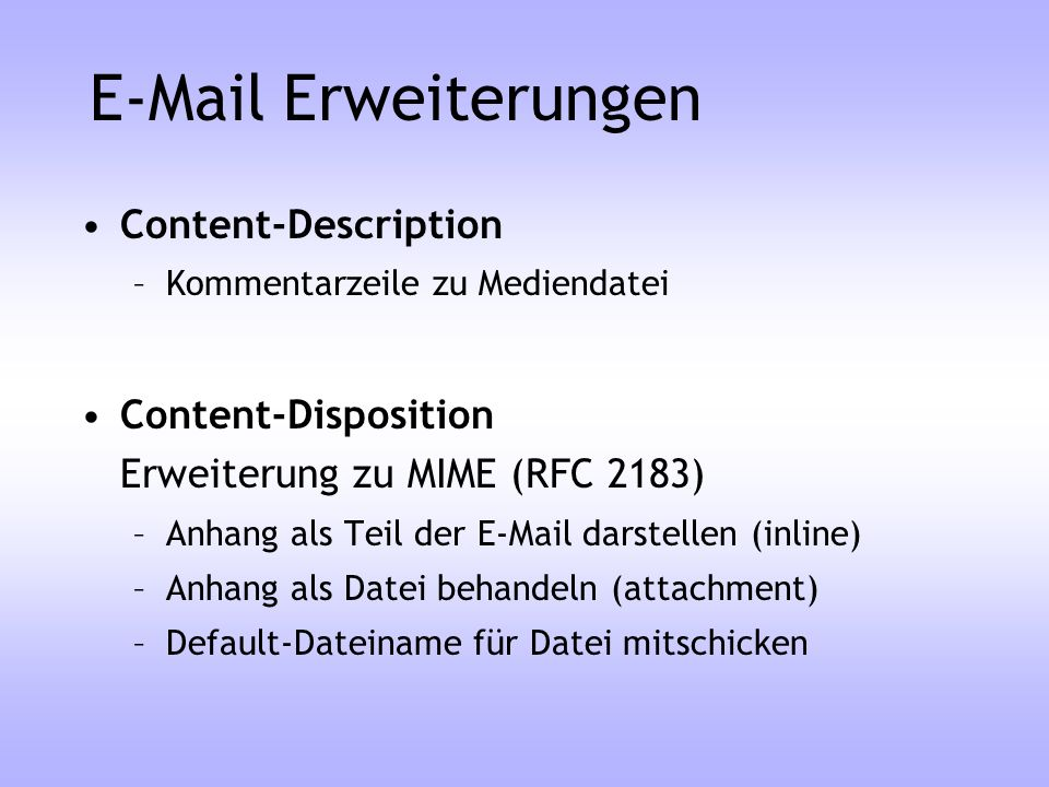 Erweiterungen Content-Description