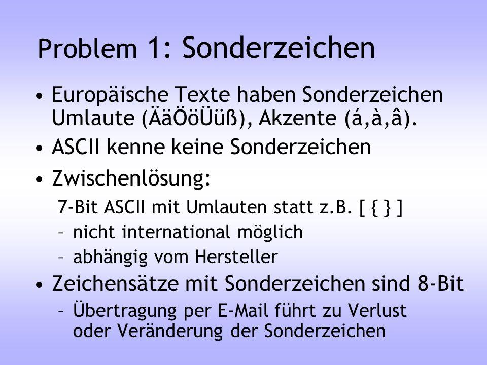 Problem 1: Sonderzeichen