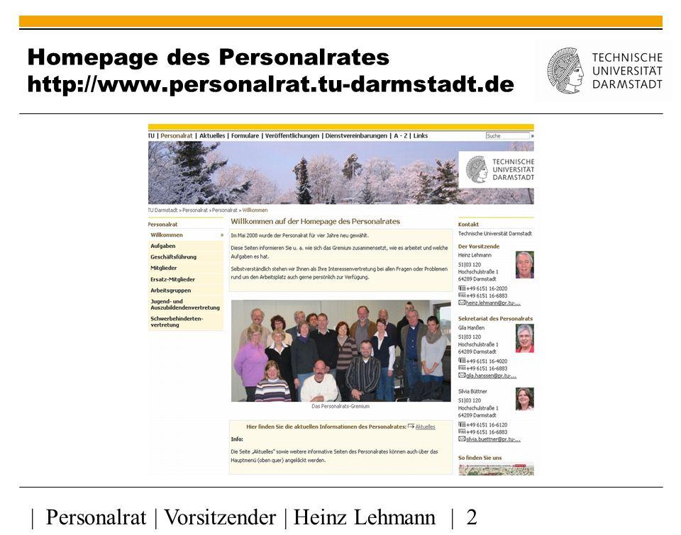 Homepage des Personalrates http://www.personalrat.tu-darmstadt.de