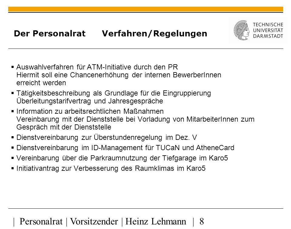 Der Personalrat Verfahren/Regelungen