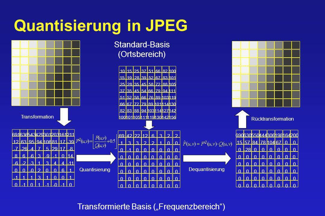 Quantisierung in JPEG Standard-Basis (Ortsbereich)