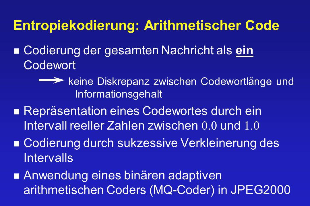 Entropiekodierung: Arithmetischer Code