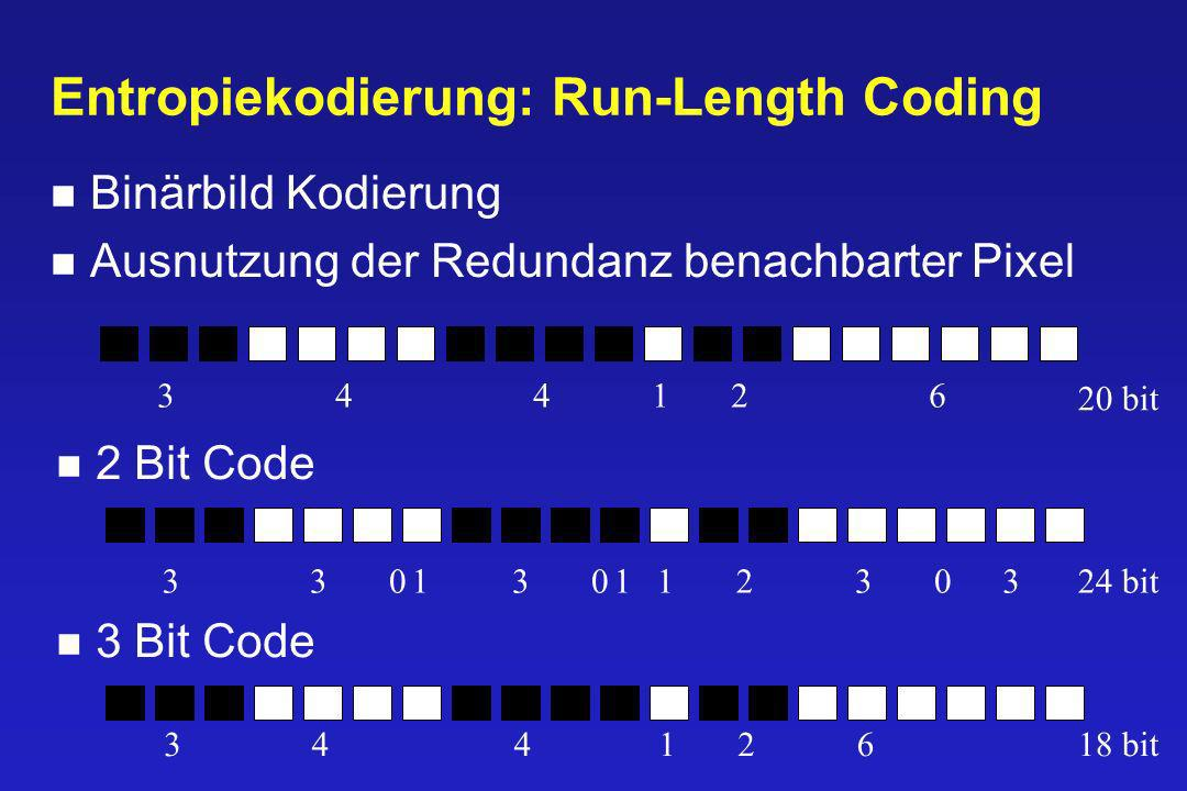 Entropiekodierung: Run-Length Coding
