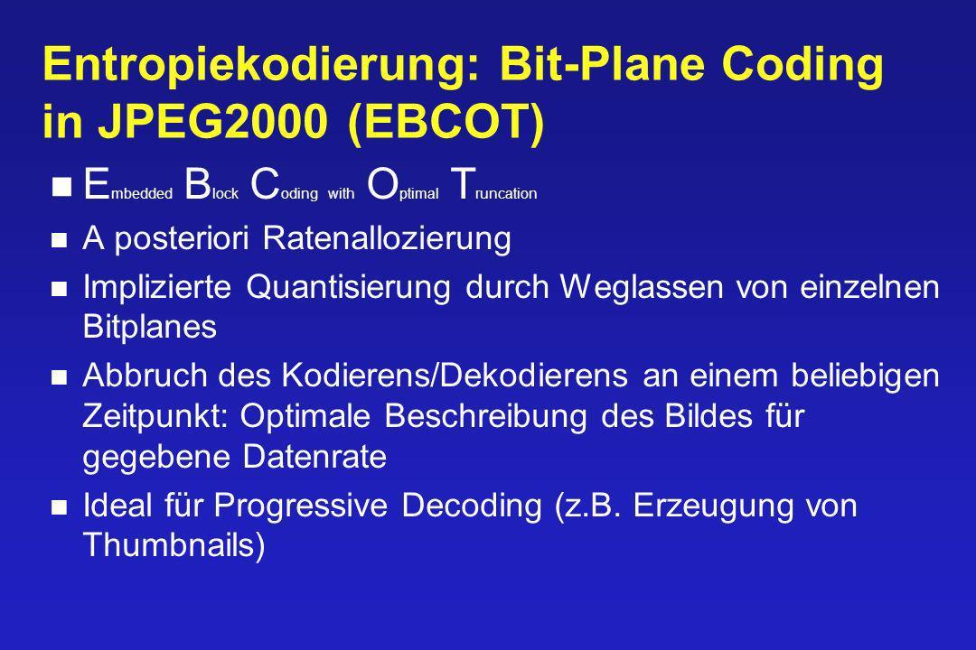 Entropiekodierung: Bit-Plane Coding in JPEG2000 (EBCOT)