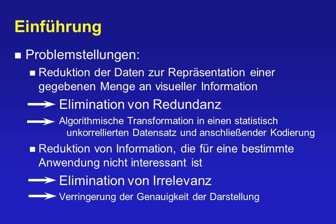 Einführung Problemstellungen: Elimination von Redundanz