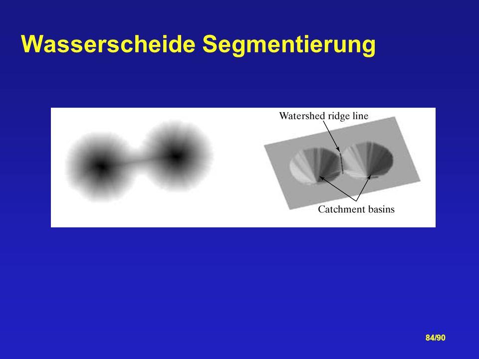Wasserscheide Segmentierung