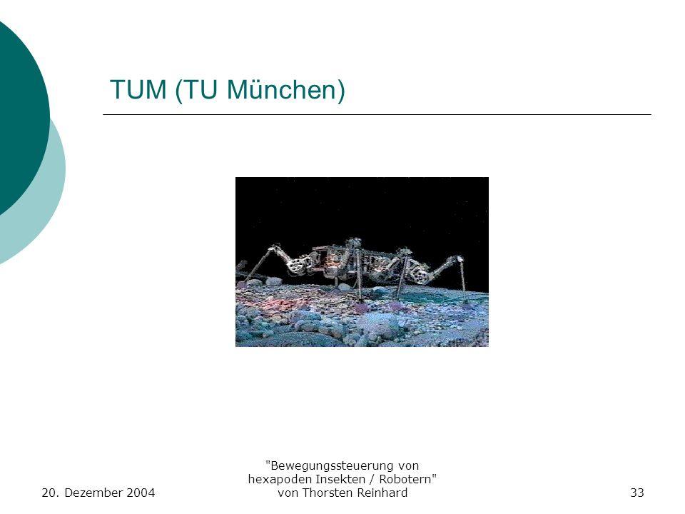 TUM (TU München) 20. Dezember 2004.