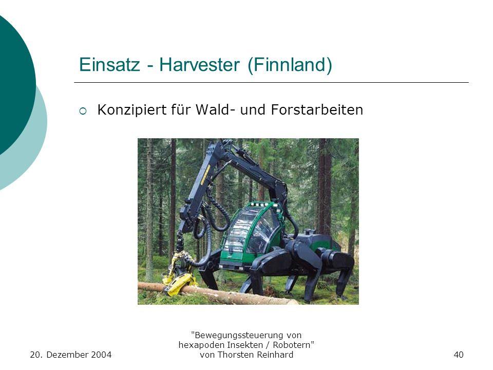 Einsatz - Harvester (Finnland)