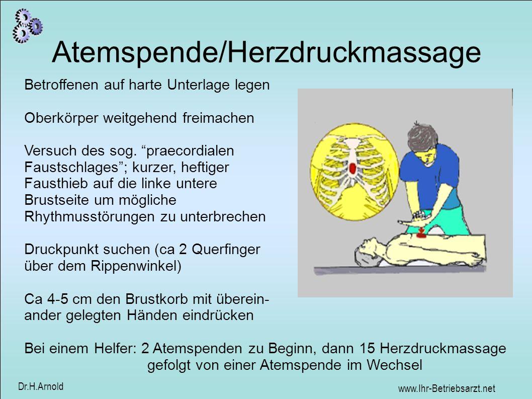 Atemspende/Herzdruckmassage
