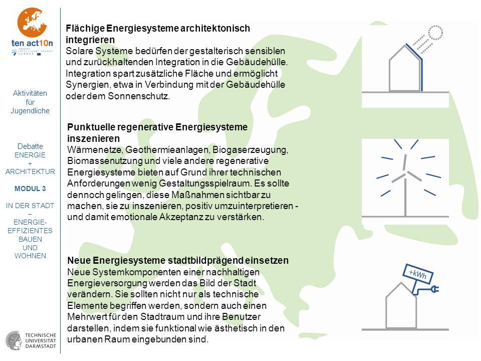 Flächige Energiesysteme architektonisch integrieren
