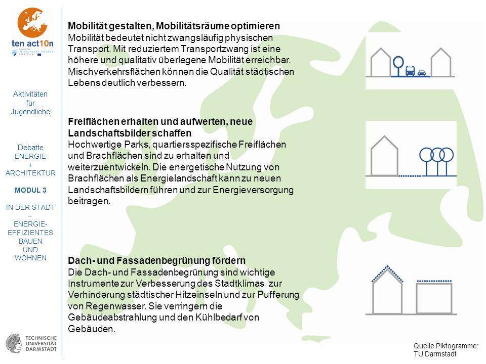Mobilität gestalten, Mobilitätsräume optimieren