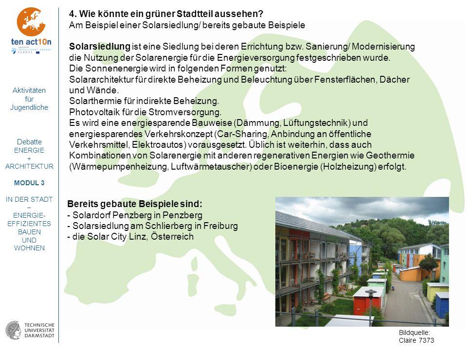 4. Wie könnte ein grüner Stadtteil aussehen