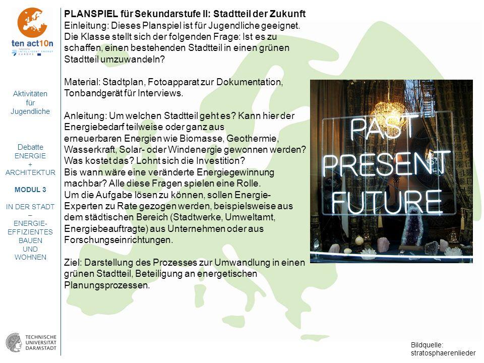 PLANSPIEL für Sekundarstufe II: Stadtteil der Zukunft