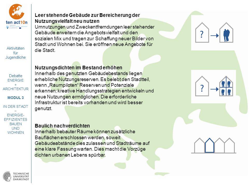 Leer stehende Gebäude zur Bereicherung der Nutzungsvielfalt neu nutzen