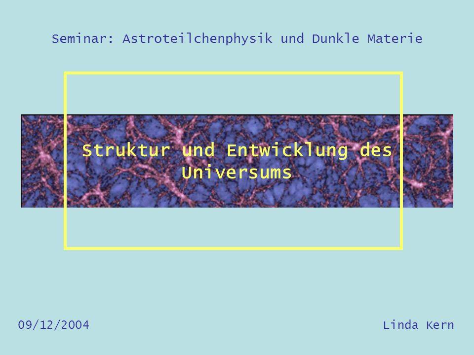Welche Struktur hat das Universum