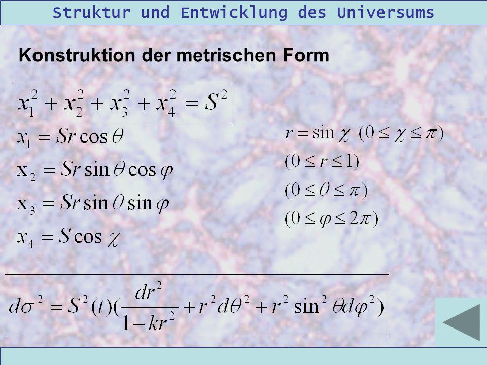 Konstruktion der metrischen Form