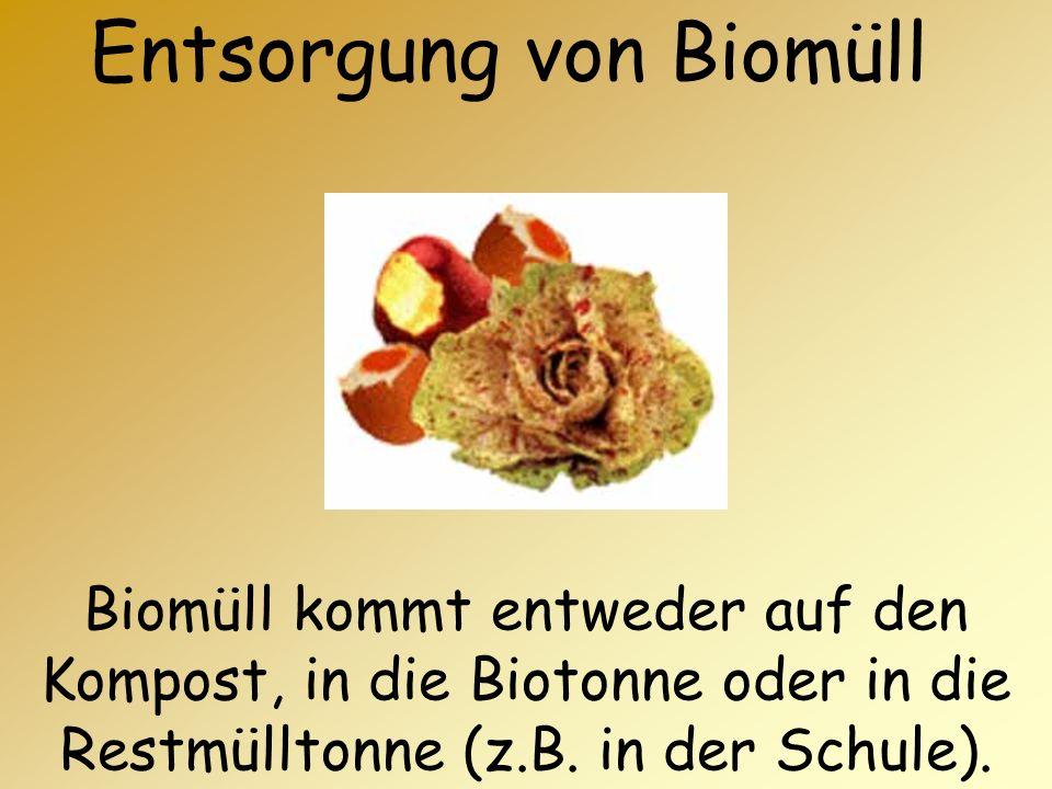 Entsorgung von Biomüll