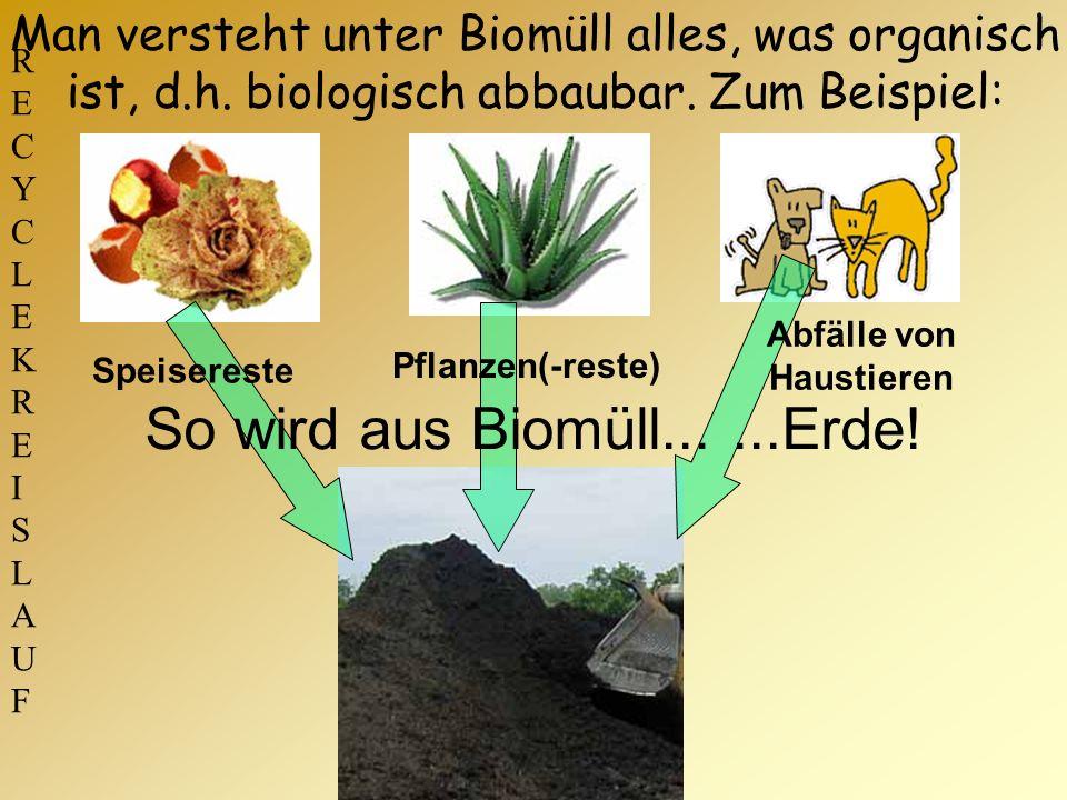 So wird aus Biomüll... ...Erde!