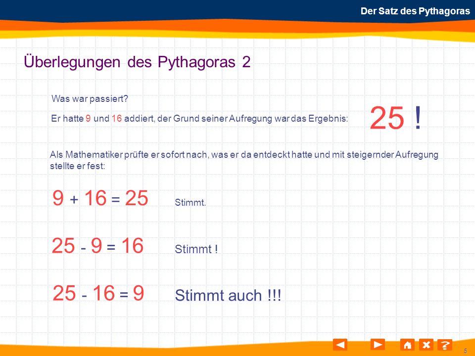 Überlegungen des Pythagoras 2