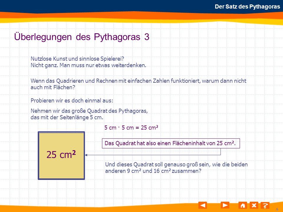 Überlegungen des Pythagoras 3