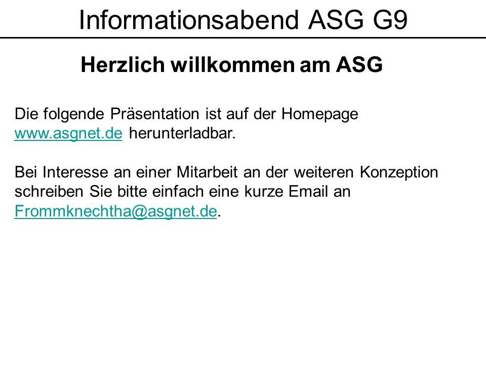 Herzlich willkommen am ASG