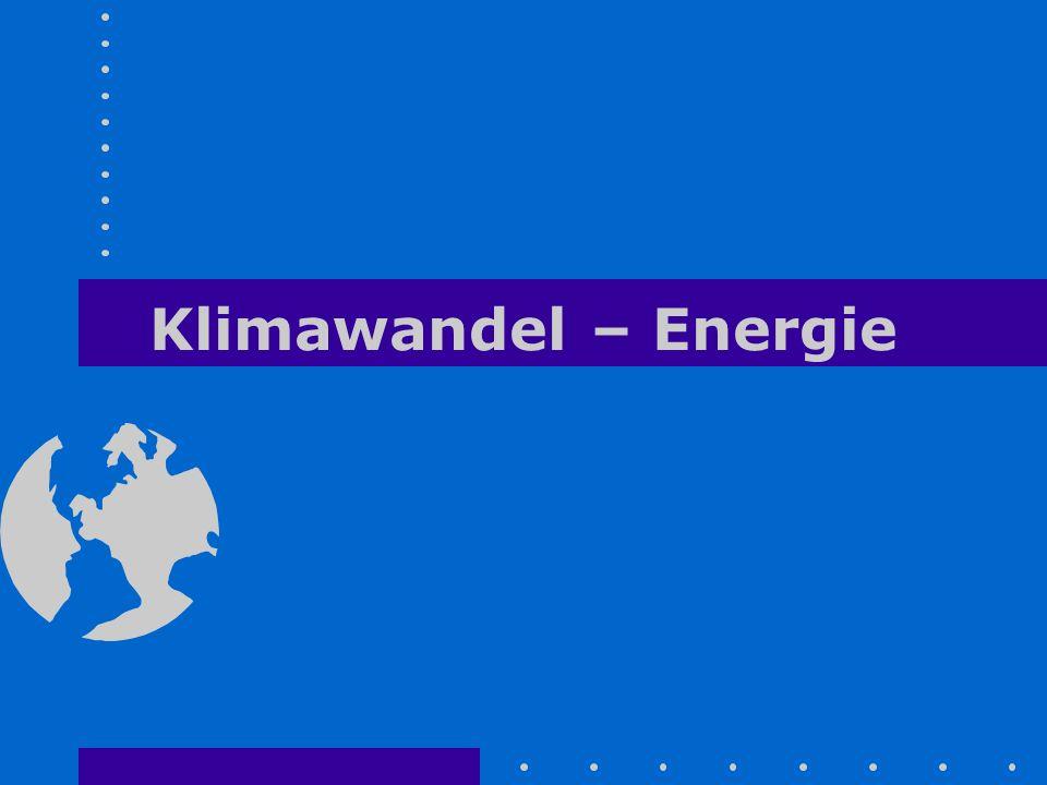 Klimawandel – Energie