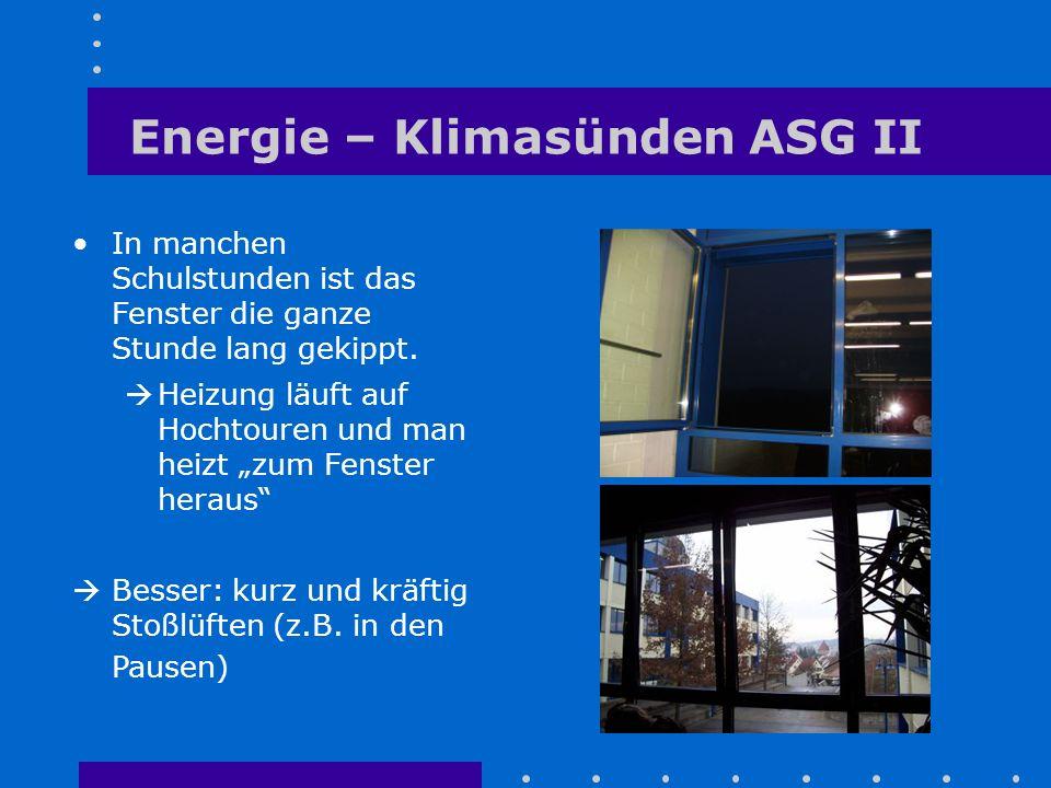 Energie – Klimasünden ASG II