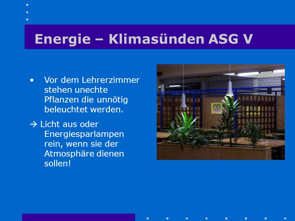 Energie – Klimasünden ASG V