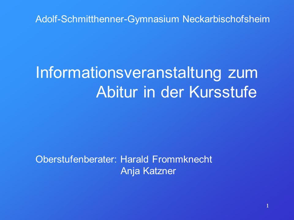 Informationsveranstaltung zum Abitur in der Kursstufe