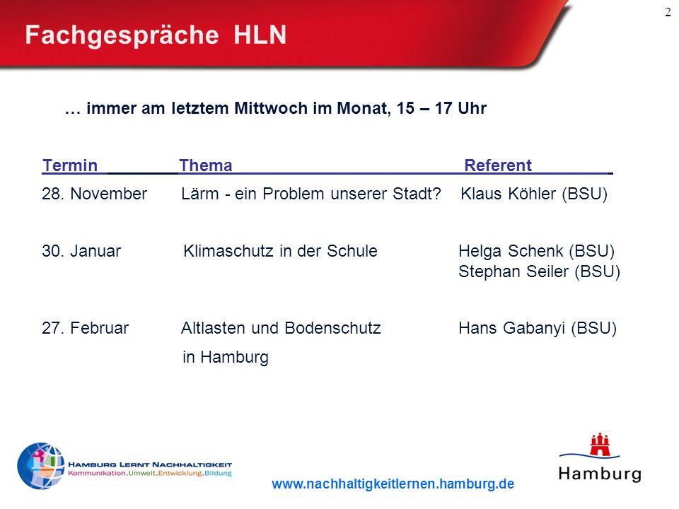 Fachgespräche HLN … immer am letztem Mittwoch im Monat, 15 – 17 Uhr