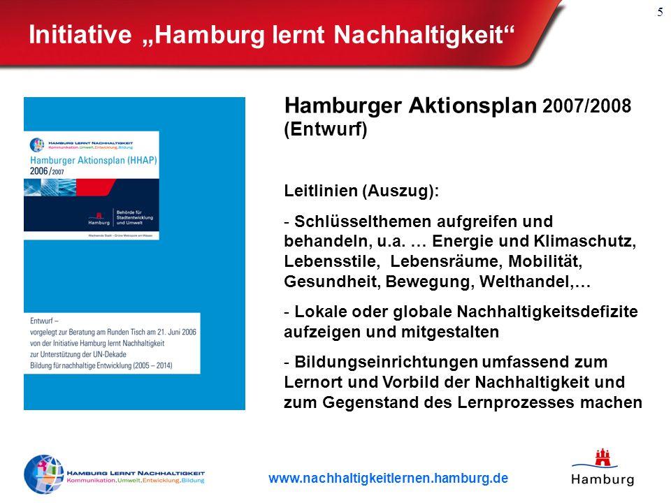 """Initiative """"Hamburg lernt Nachhaltigkeit"""