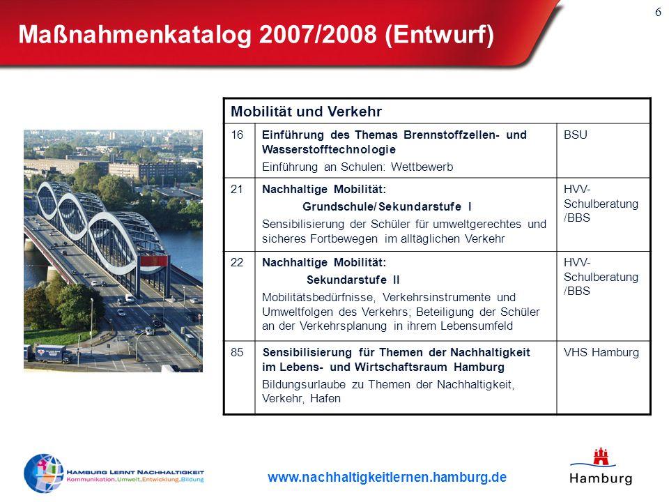 Maßnahmenkatalog 2007/2008 (Entwurf)