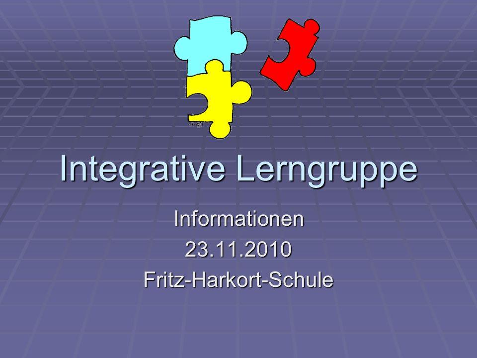 Integrative Lerngruppe