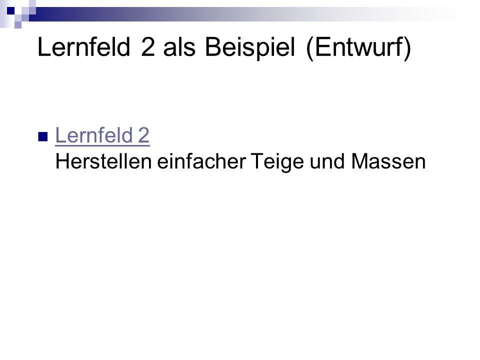 Lernfeld 2 als Beispiel (Entwurf)
