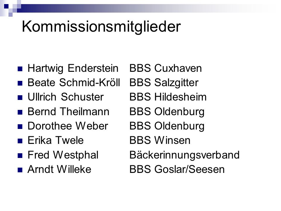 Kommissionsmitglieder