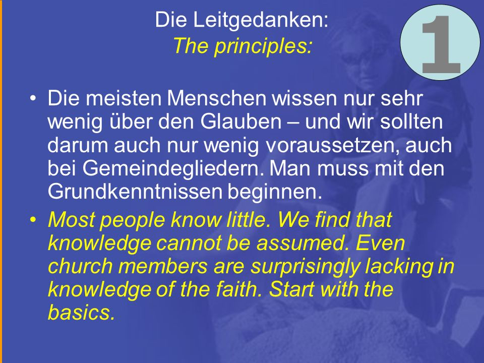 Die Leitgedanken: The principles: