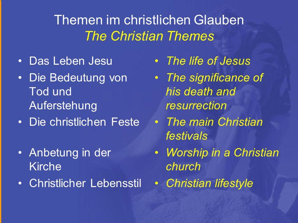 Themen im christlichen Glauben The Christian Themes