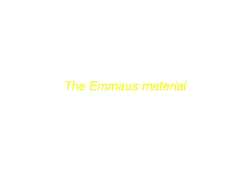 Das Emmaus-Material The Emmaus material