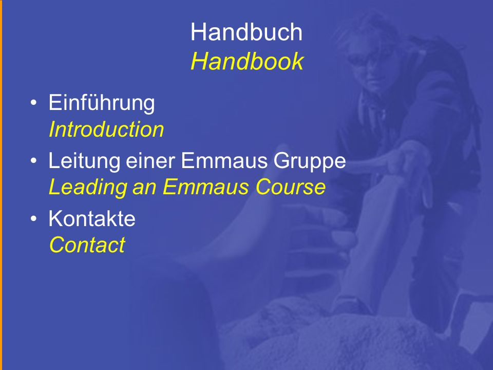 Handbuch Handbook Einführung Introduction