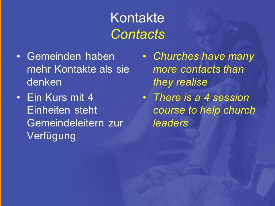 Kontakte Contacts Gemeinden haben mehr Kontakte als sie denken