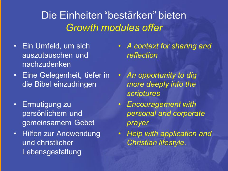 Die Einheiten bestärken bieten Growth modules offer