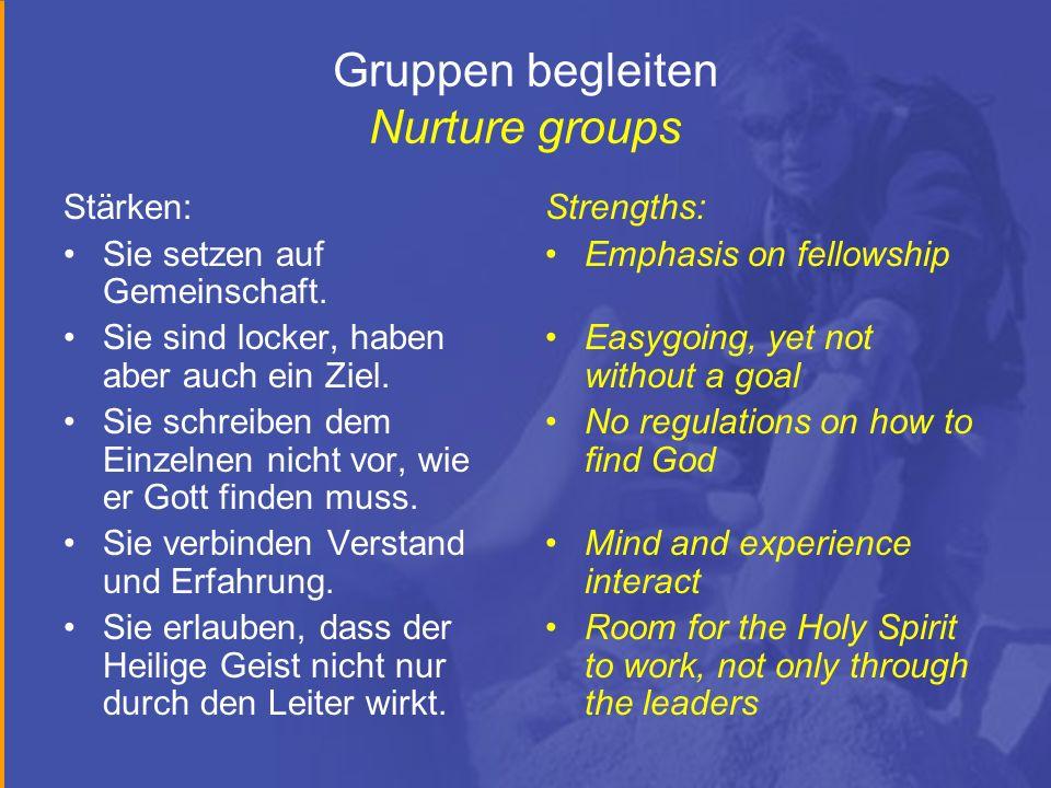 Gruppen begleiten Nurture groups