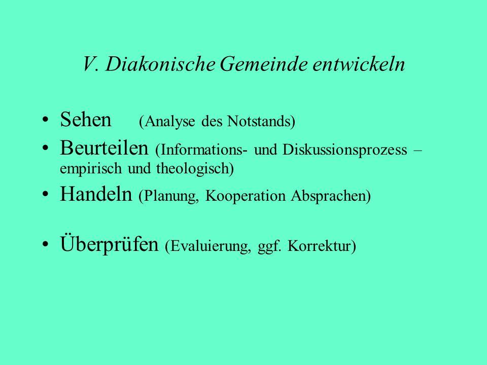 V. Diakonische Gemeinde entwickeln