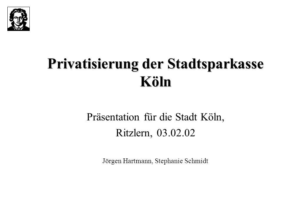Privatisierung der Stadtsparkasse Köln